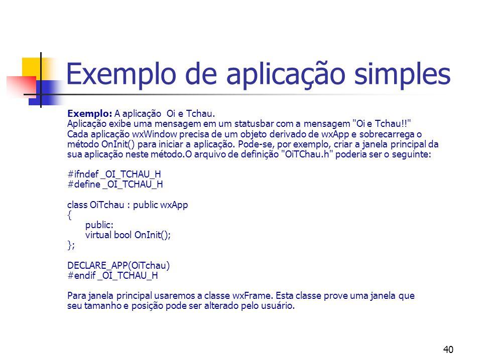 Exemplo de aplicação simples