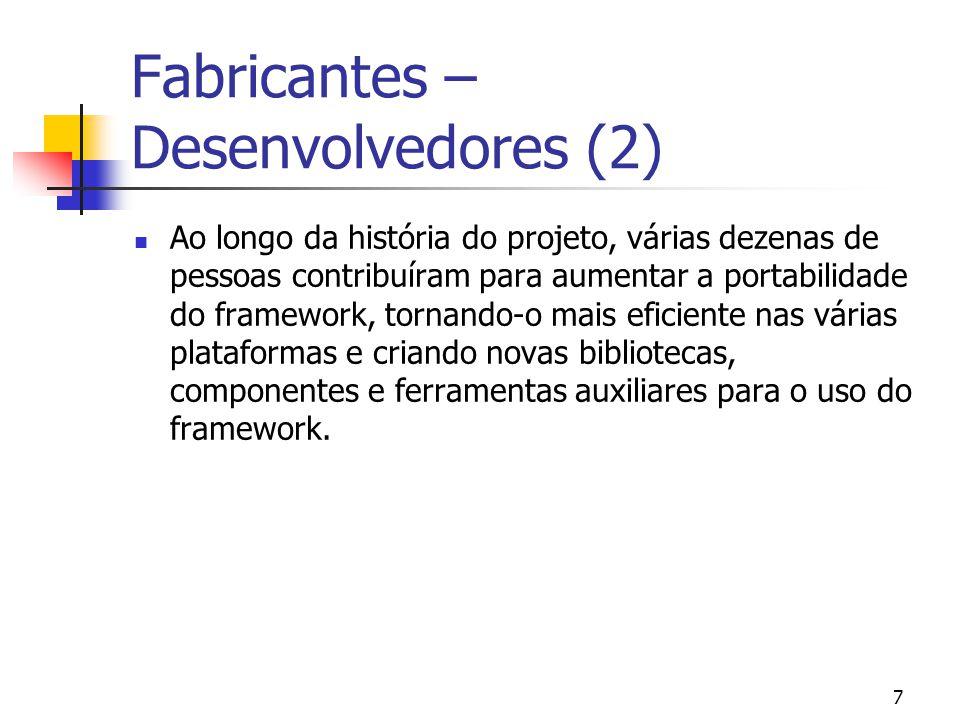 Fabricantes – Desenvolvedores (2)