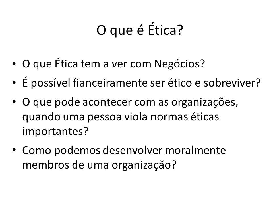 O que é Ética O que Ética tem a ver com Negócios