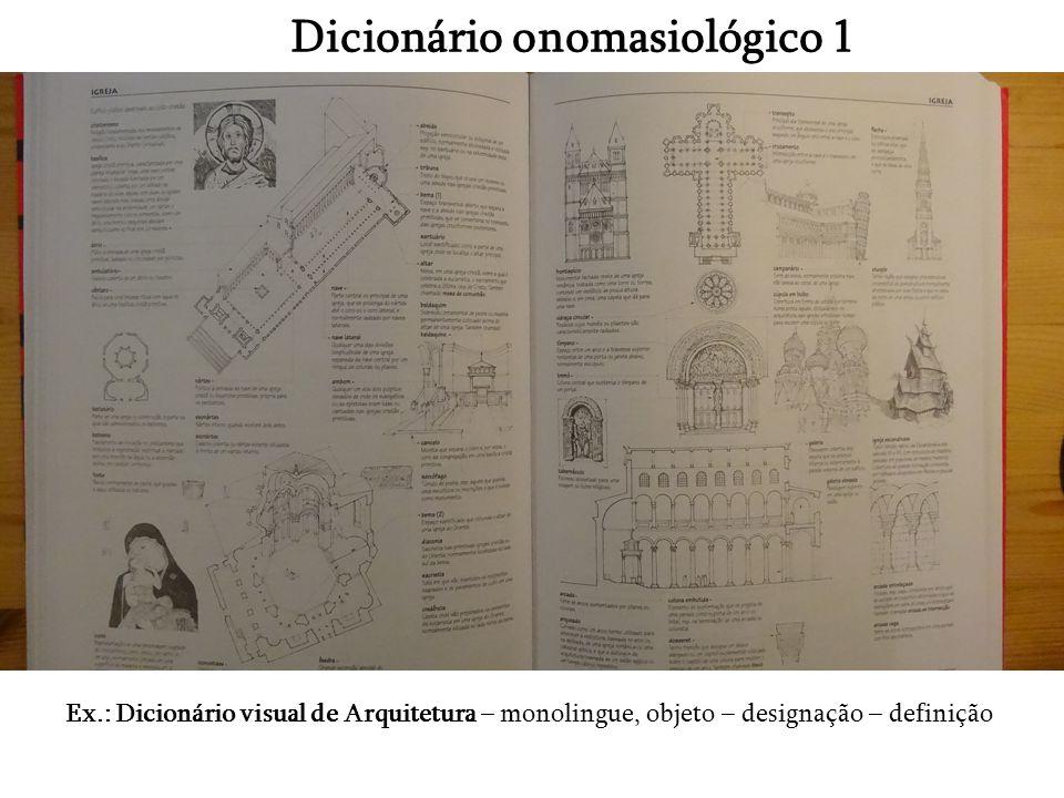 Dicionário onomasiológico 1