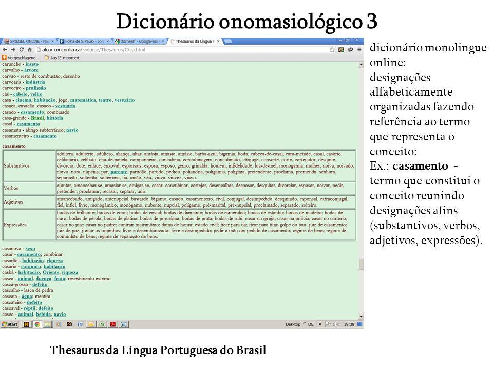 Dicionário onomasiológico 3