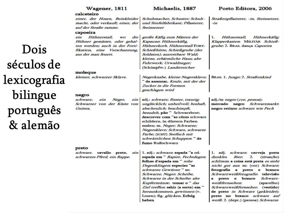 Dois séculos de lexicografia bilingue português & alemão