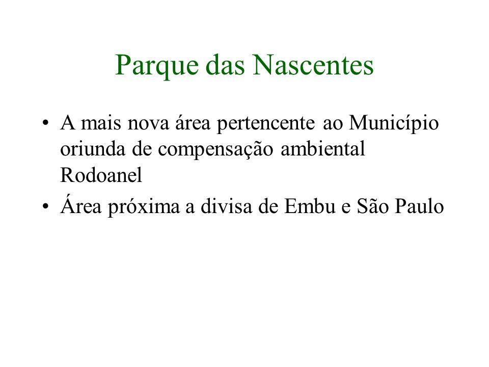 Parque das Nascentes A mais nova área pertencente ao Município oriunda de compensação ambiental Rodoanel.