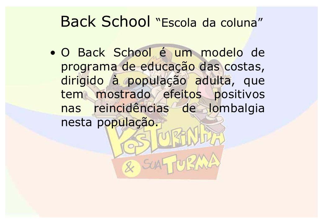 Back School Escola da coluna