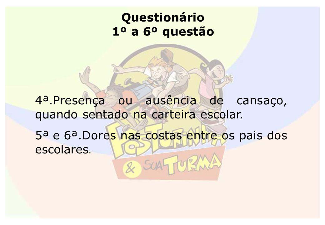 Questionário 1º a 6º questão