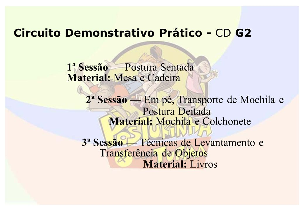 Circuito Demonstrativo Prático - CD G2