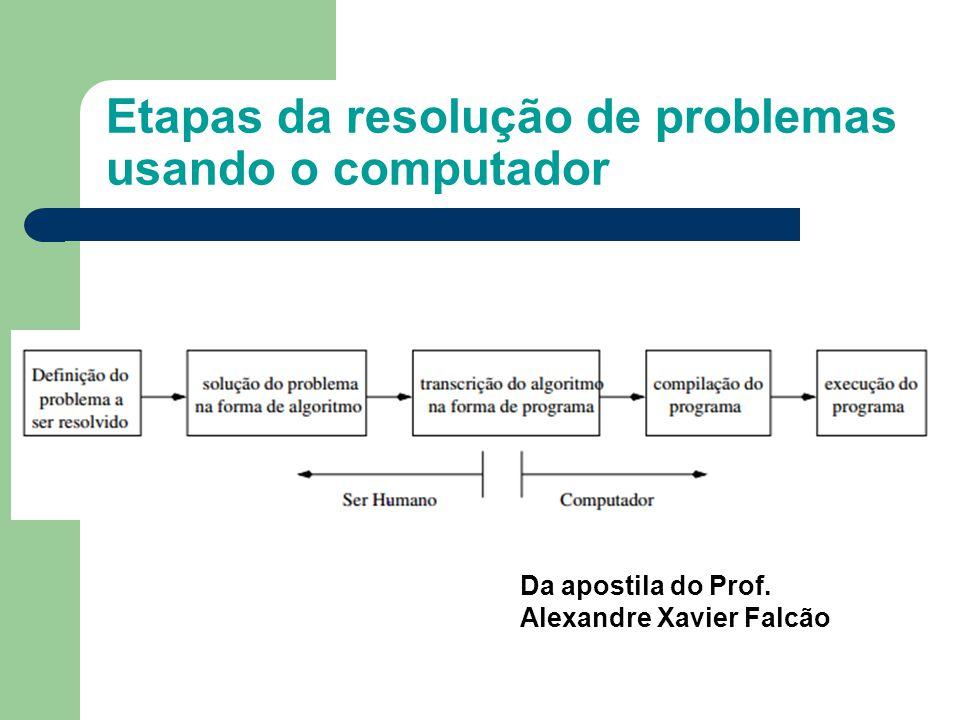 Etapas da resolução de problemas usando o computador