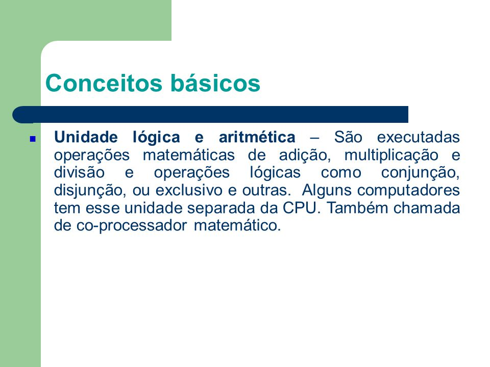 4 Conceitos básicos.