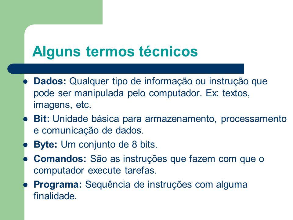 Alguns termos técnicos