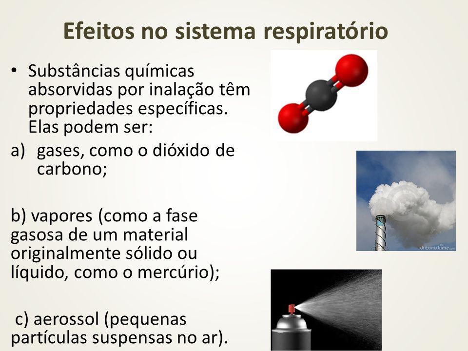 Efeitos no sistema respiratório