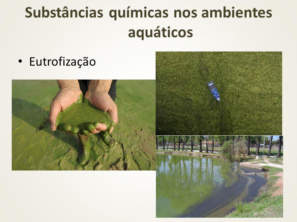 Substâncias químicas nos ambientes aquáticos