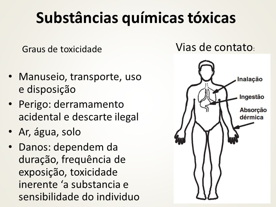 Substâncias químicas tóxicas
