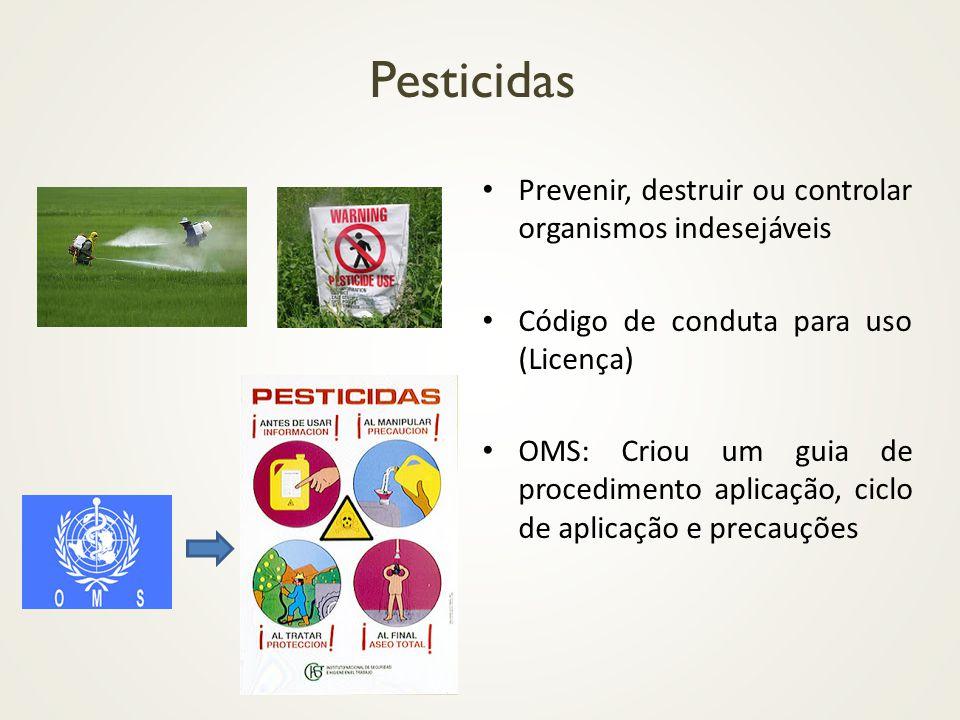Pesticidas Prevenir, destruir ou controlar organismos indesejáveis