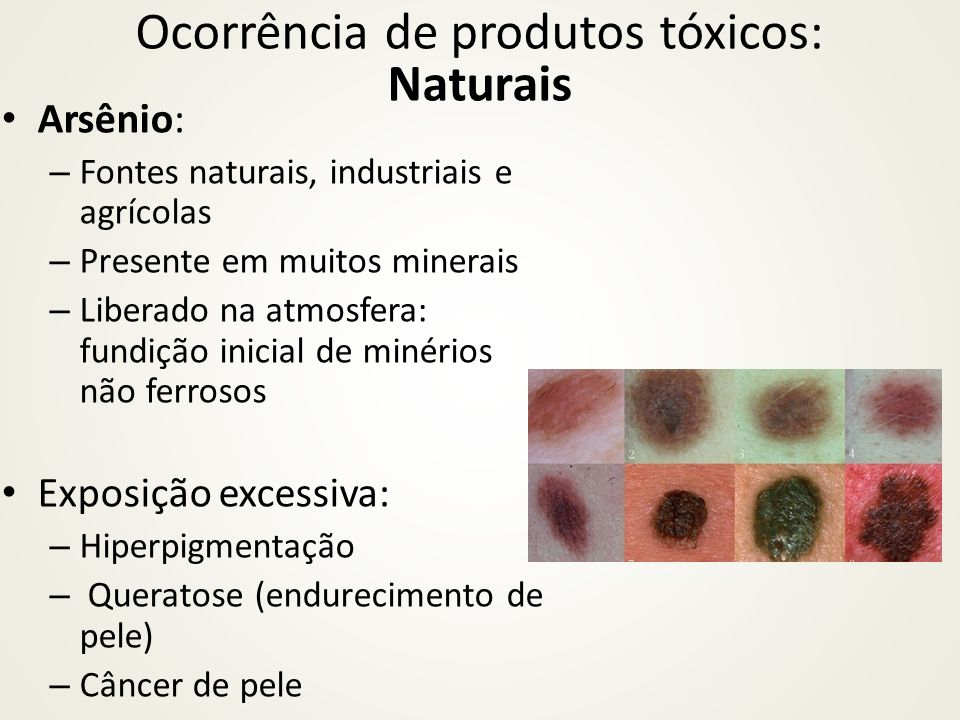 Ocorrência de produtos tóxicos: Naturais