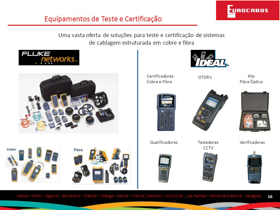 Equipamentos de Teste e Certificação