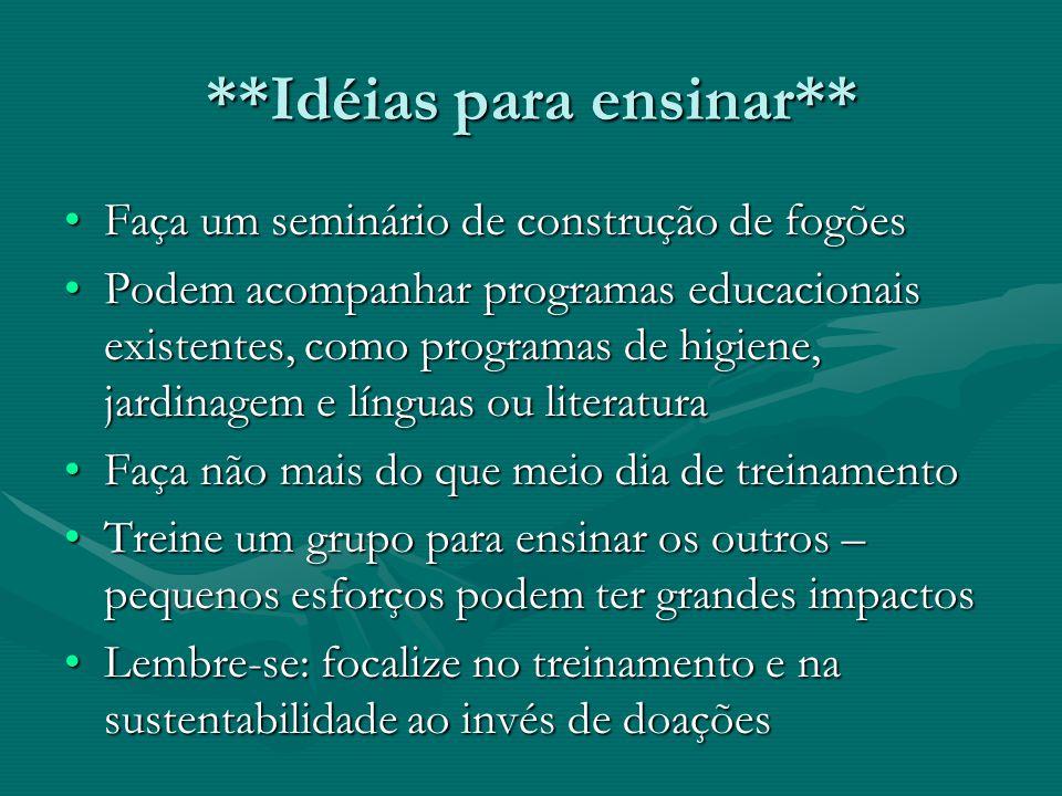 **Idéias para ensinar**