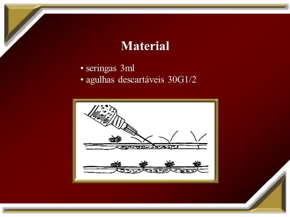 Material seringas 3ml agulhas descartáveis 30G1/2
