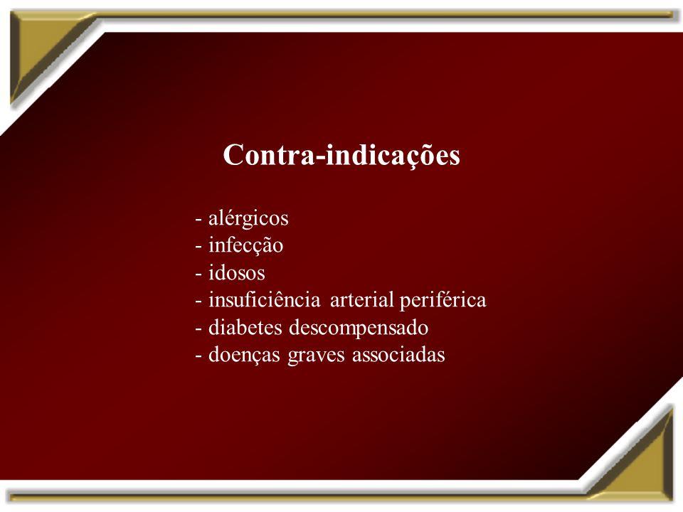 Contra-indicações alérgicos infecção idosos
