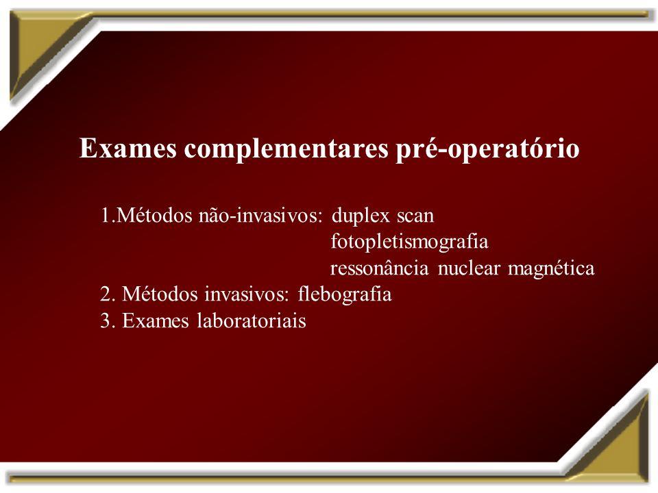 Exames complementares pré-operatório