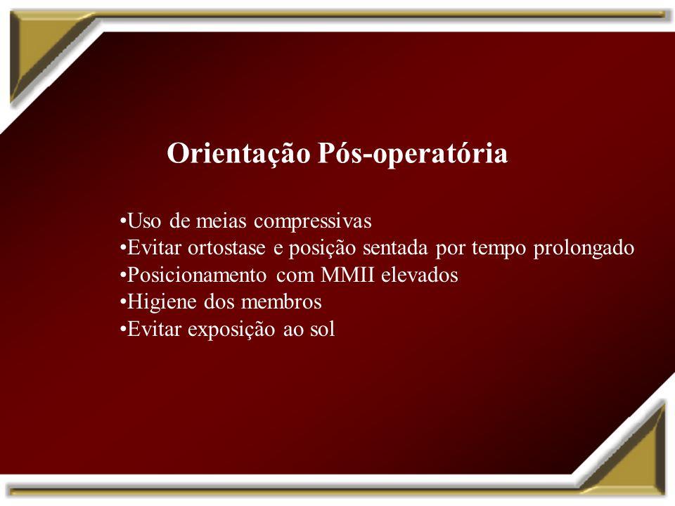 Orientação Pós-operatória