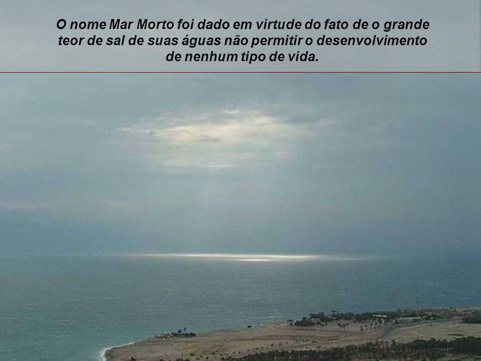 O nome Mar Morto foi dado em virtude do fato de o grande teor de sal de suas águas não permitir o desenvolvimento