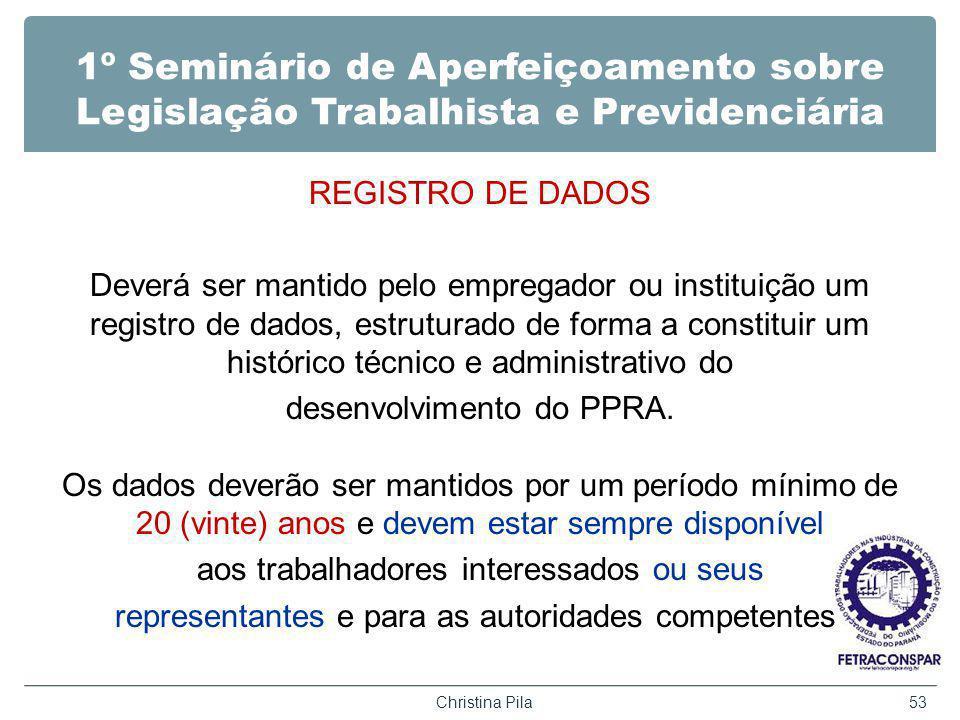 1º Seminário de Aperfeiçoamento sobre Legislação Trabalhista e Previdenciária