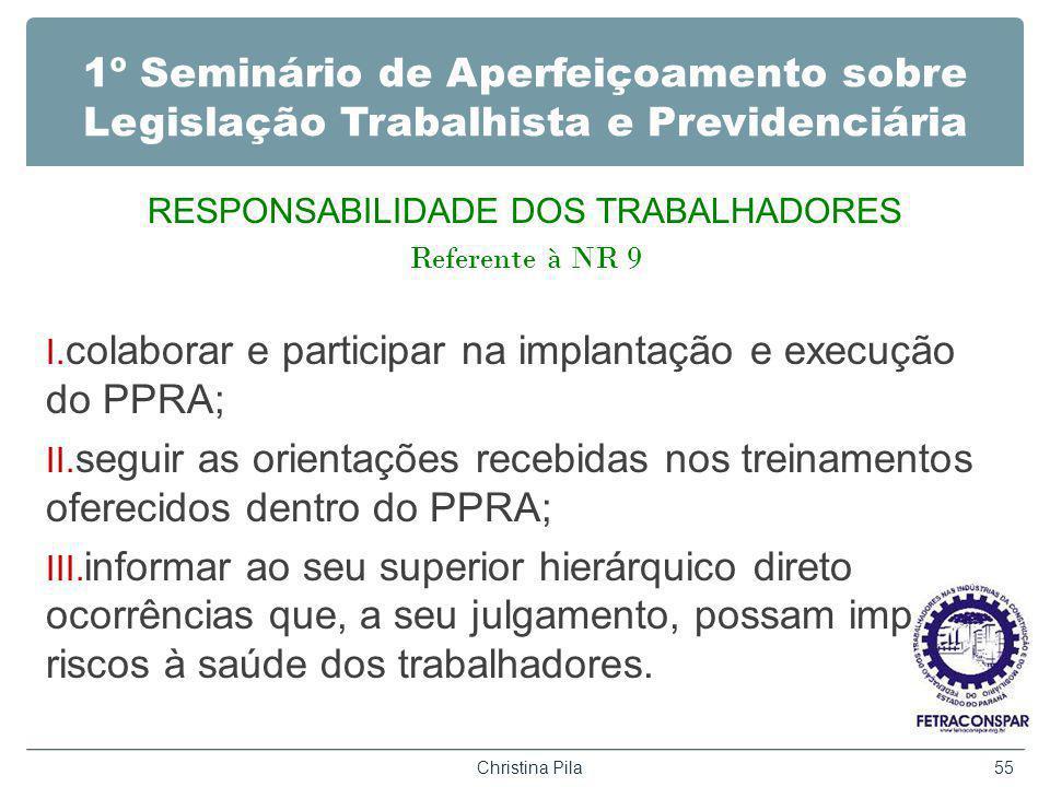 RESPONSABILIDADE DOS TRABALHADORES