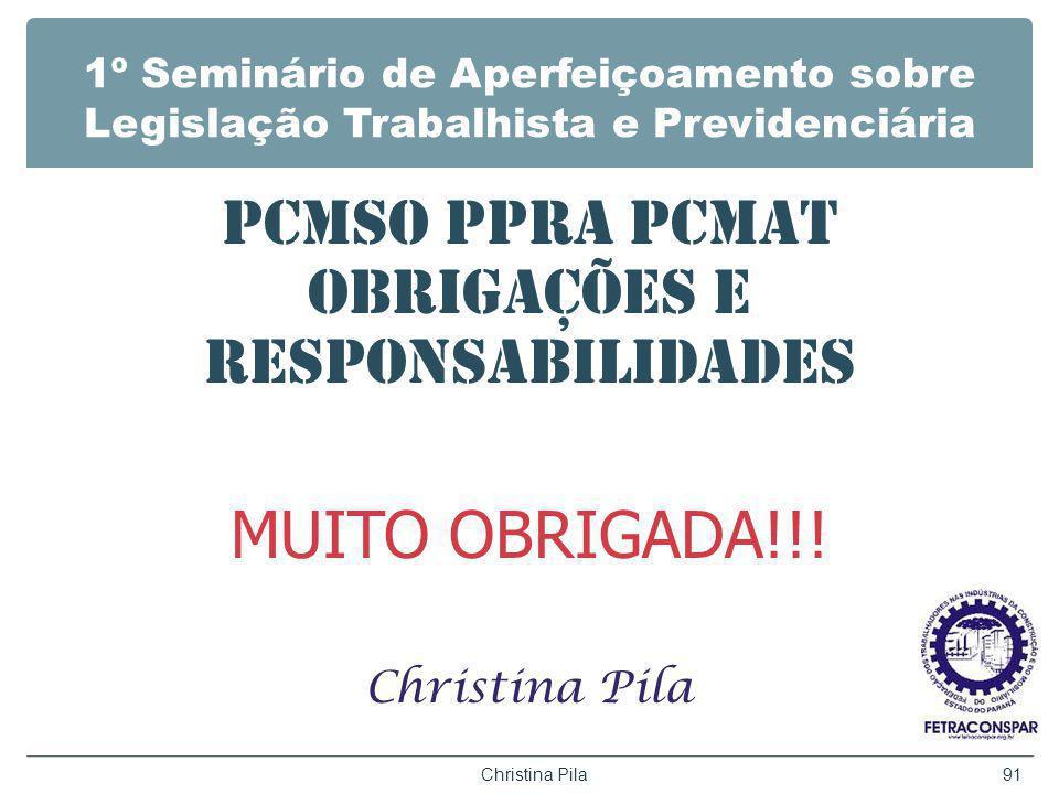 PCMSO PPRA PCMAT OBRIGAÇÕES E RESPONSABILIDADES