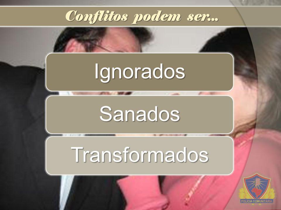 Conflitos podem ser... Ignorados Sanados Transformados