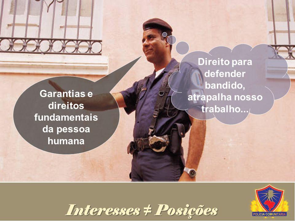 Direito para defender bandido, atrapalha nosso trabalho...