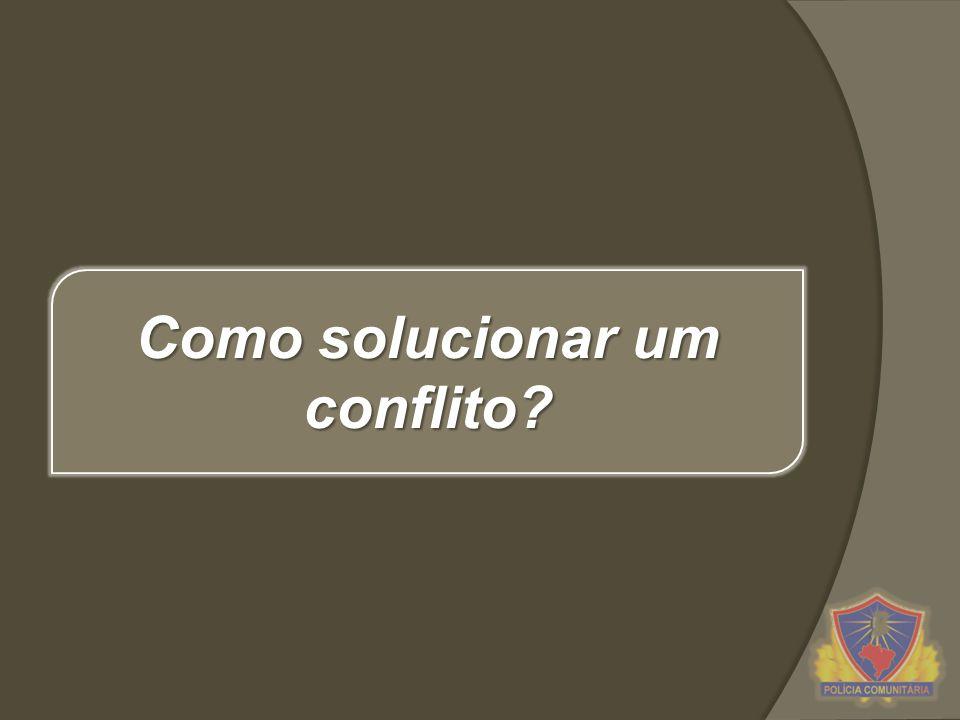 Como solucionar um conflito