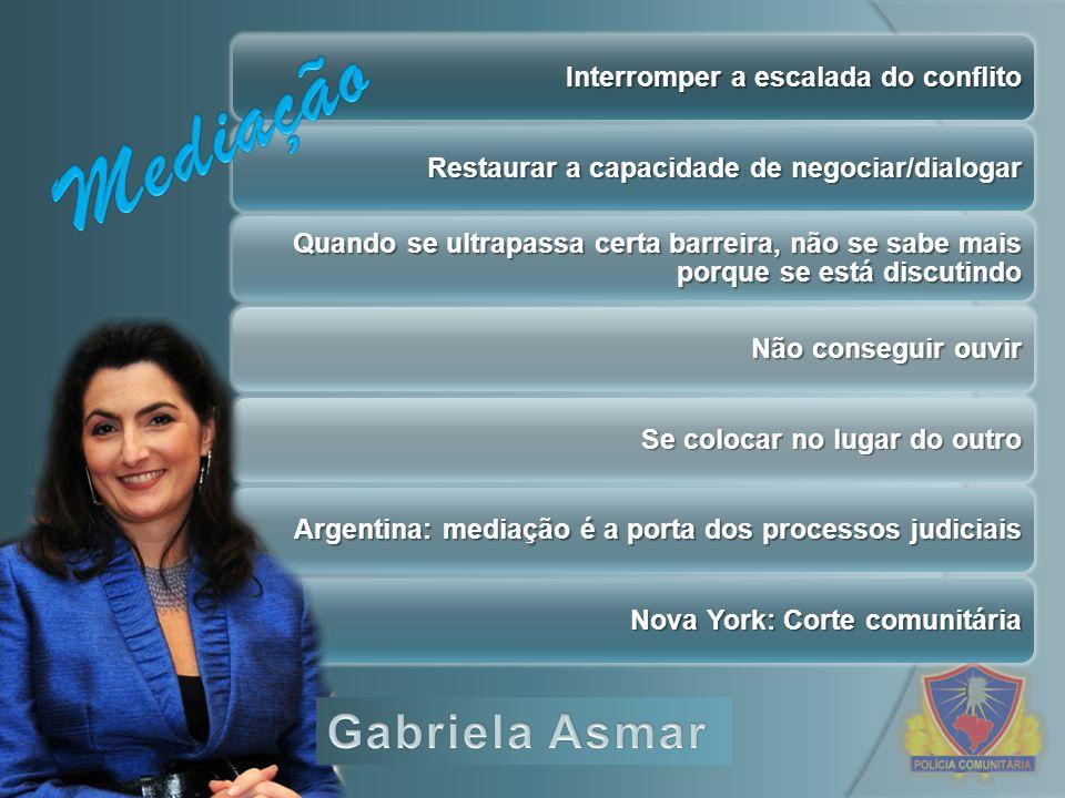 Mediação Gabriela Asmar Interromper a escalada do conflito