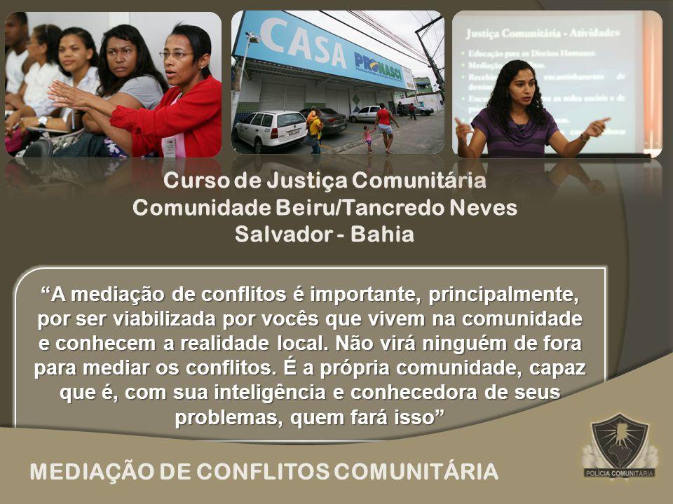 MEDIAÇÃO DE CONFLITOS COMUNITÁRIA