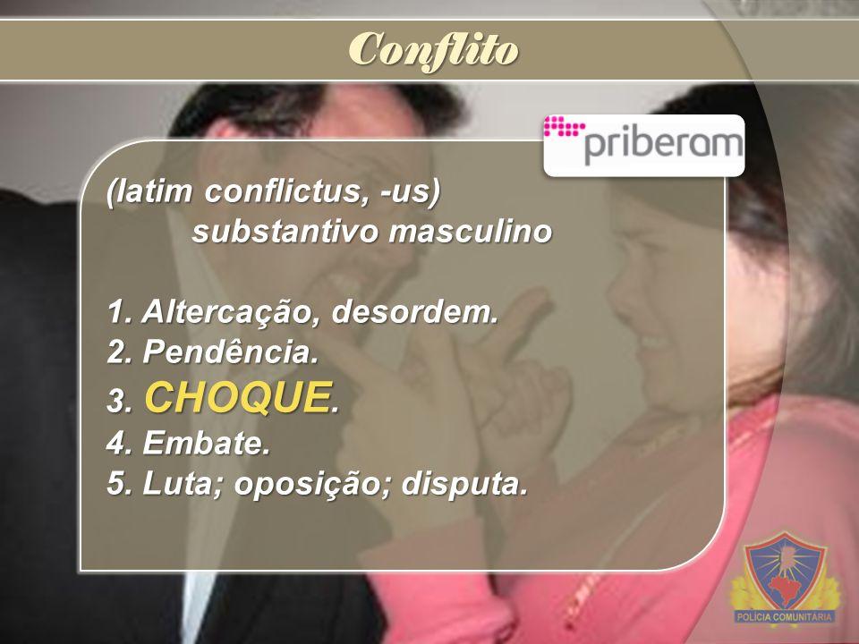 Conflito (latim conflictus, -us) substantivo masculino