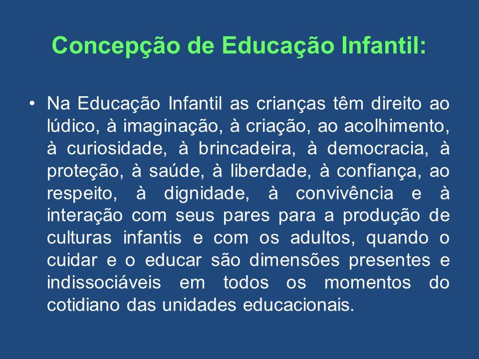 Concepção de Educação Infantil: