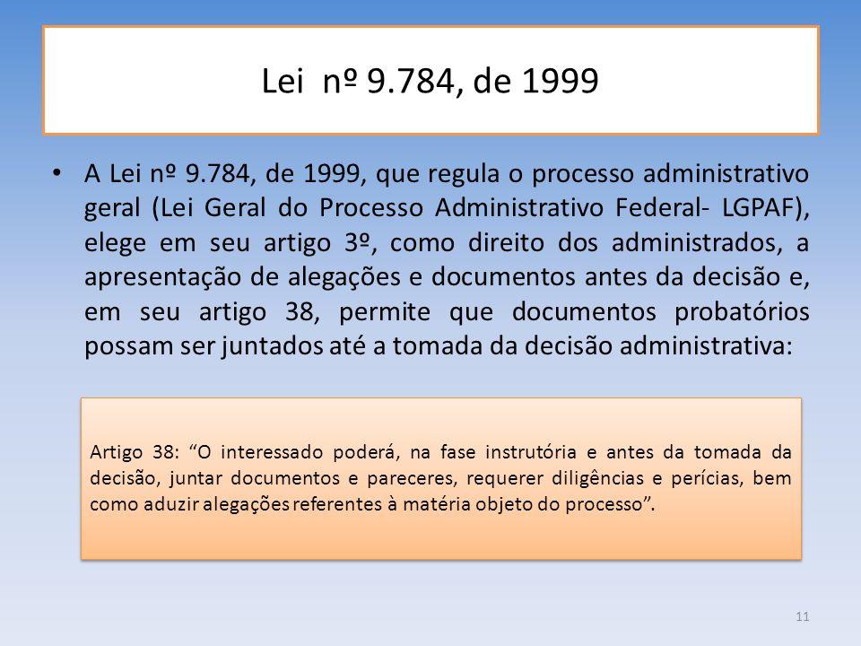 Lei nº 9.784, de 1999