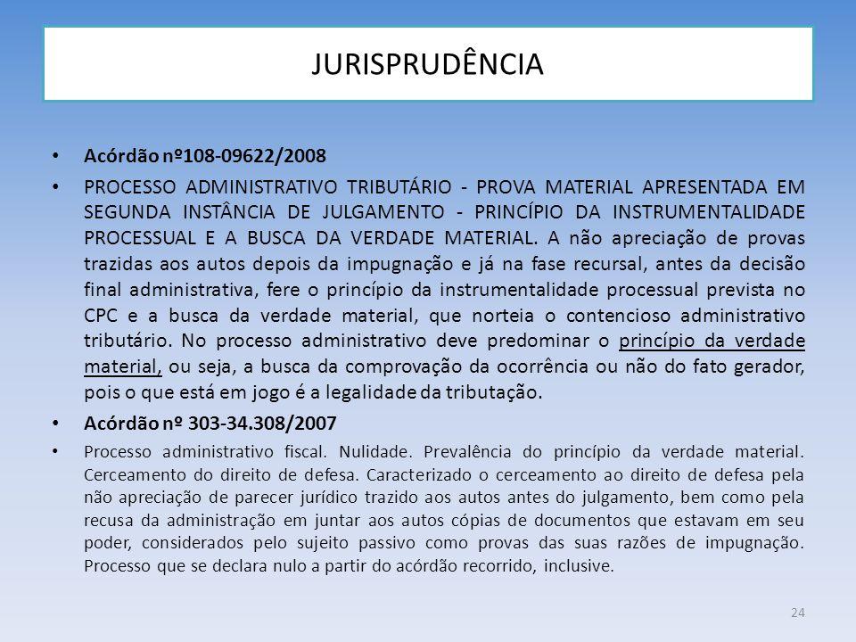 JURISPRUDÊNCIA Acórdão nº108-09622/2008