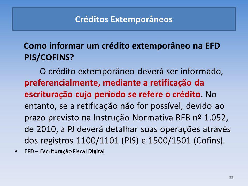 Créditos Extemporâneos