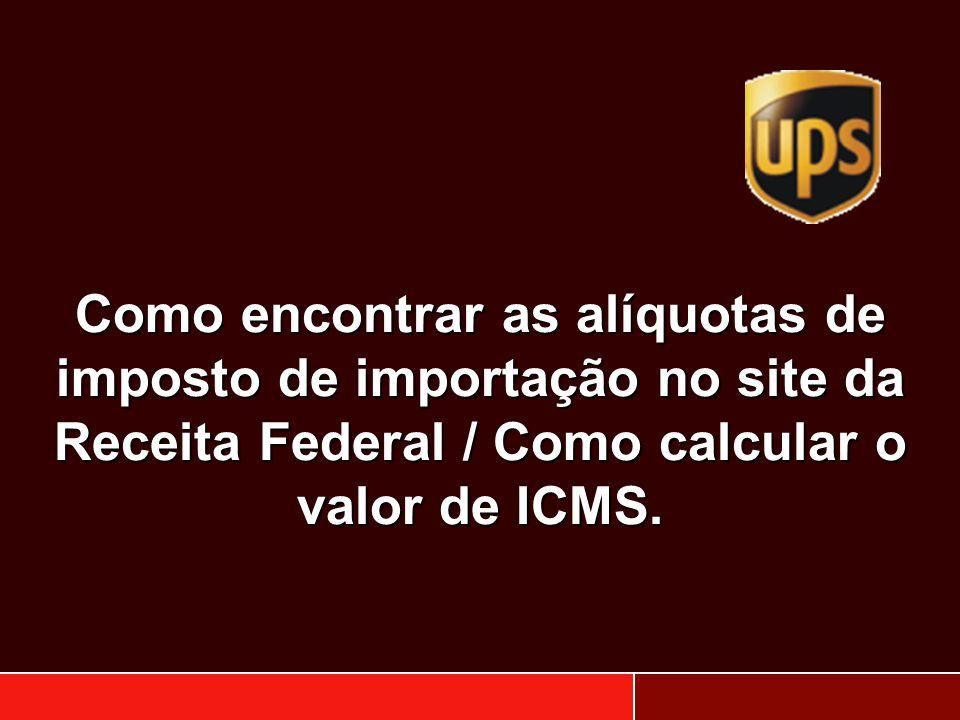 Como encontrar as alíquotas de imposto de importação no site da Receita Federal / Como calcular o valor de ICMS.