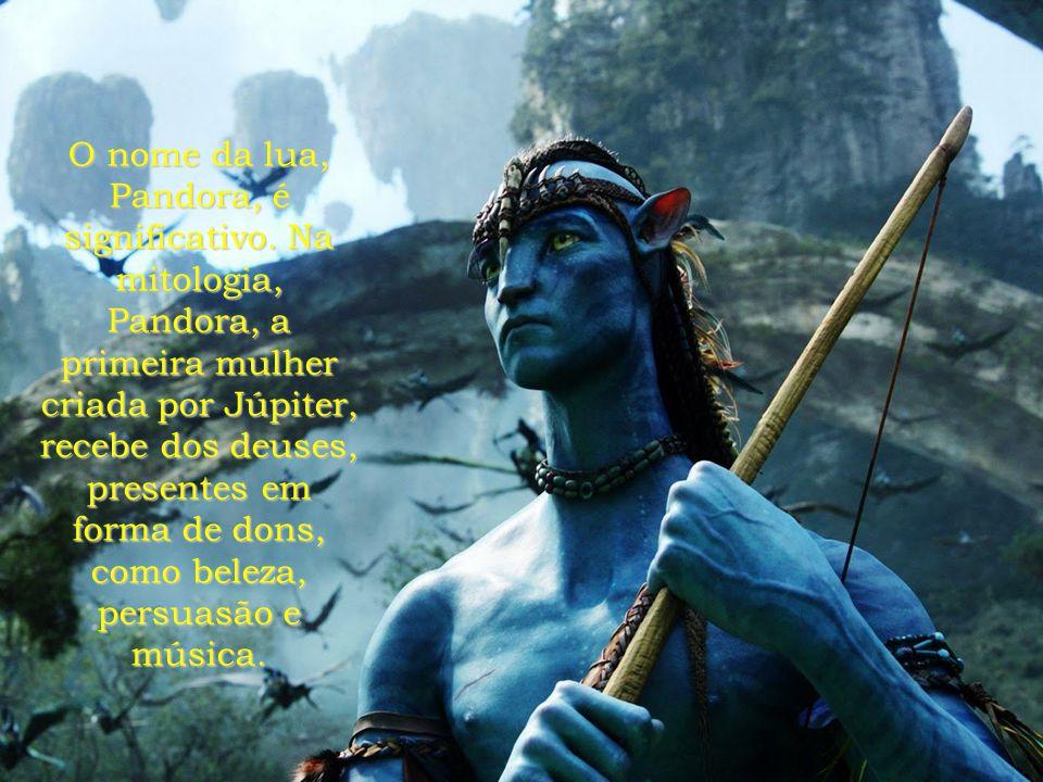 O nome da lua, Pandora, é significativo