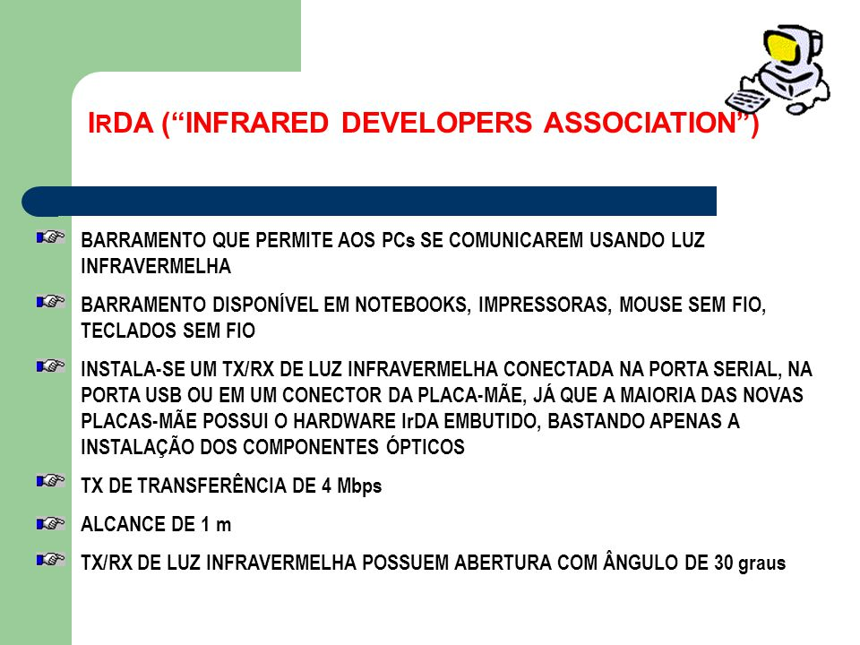 IRDA ( INFRARED DEVELOPERS ASSOCIATION )