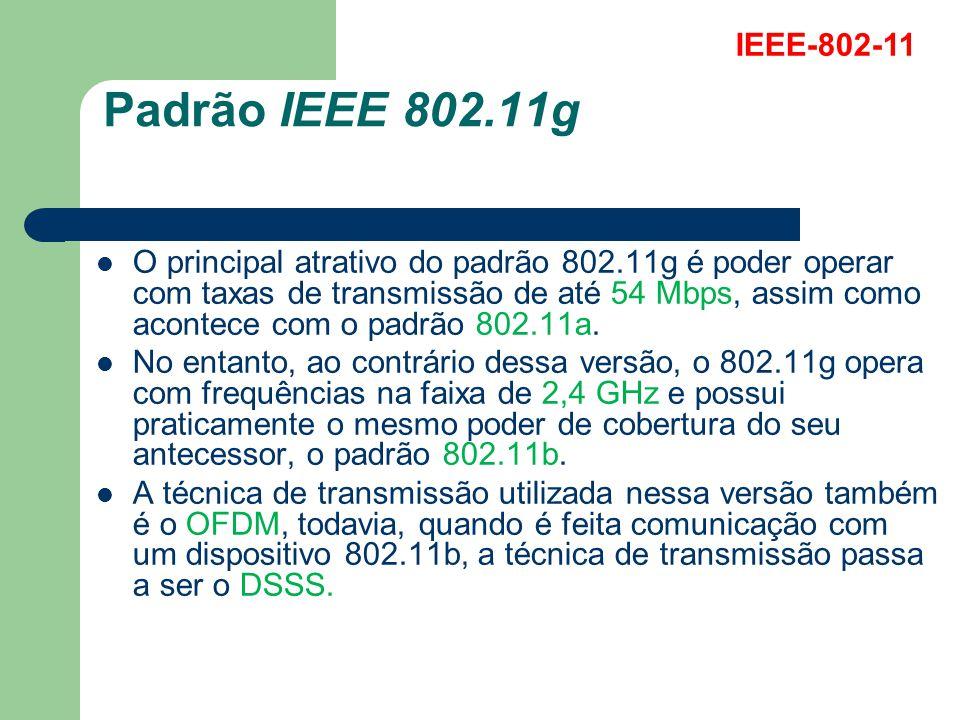 IEEE-802-11 Padrão IEEE 802.11g.