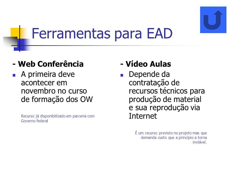 Ferramentas para EAD - Web Conferência