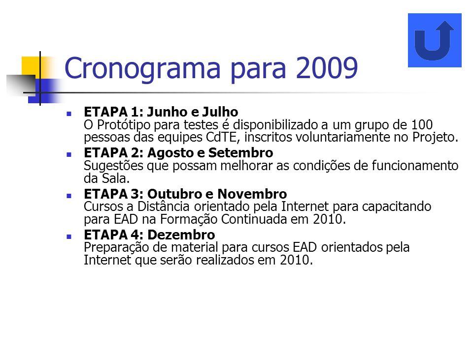 Cronograma para 2009