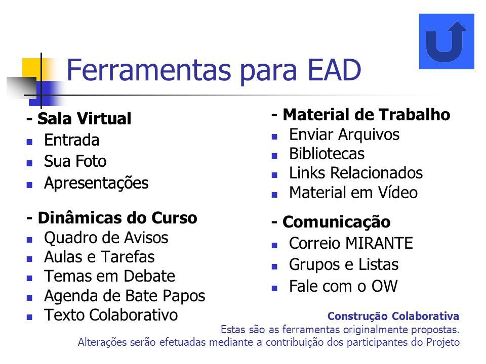 Ferramentas para EAD - Sala Virtual Entrada Sua Foto Apresentações