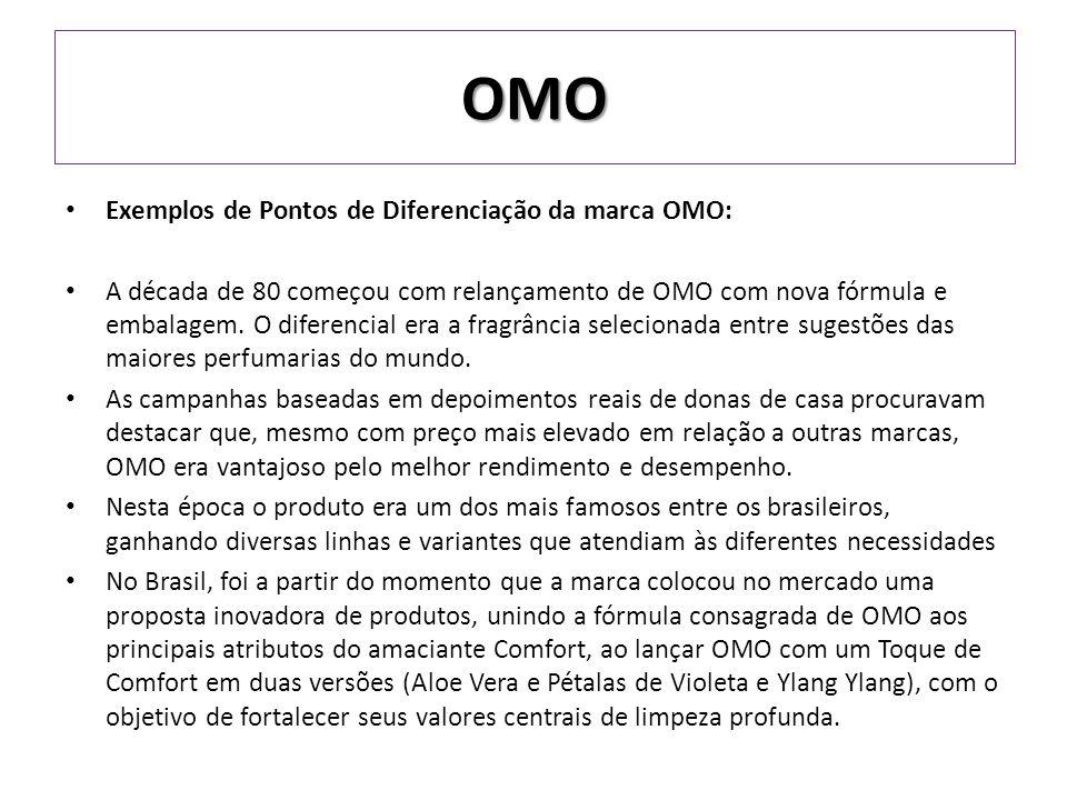 OMO Exemplos de Pontos de Diferenciação da marca OMO: