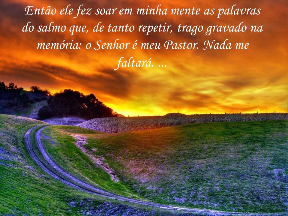 Então ele fez soar em minha mente as palavras do salmo que, de tanto repetir, trago gravado na memória: o Senhor é meu Pastor.