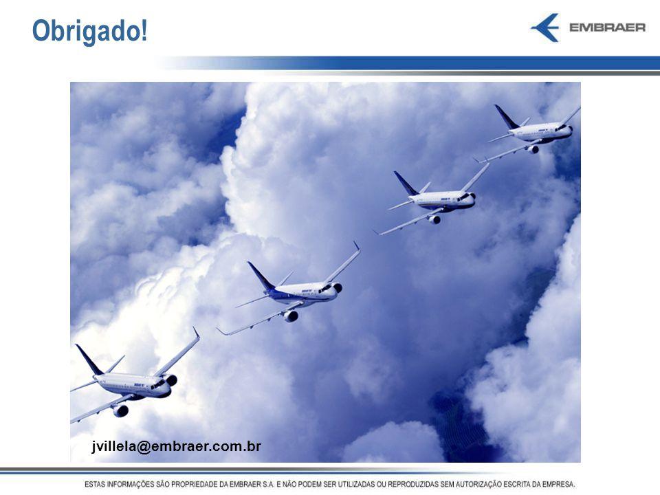 Obrigado! Obrigado! jvillela@embraer.com.br