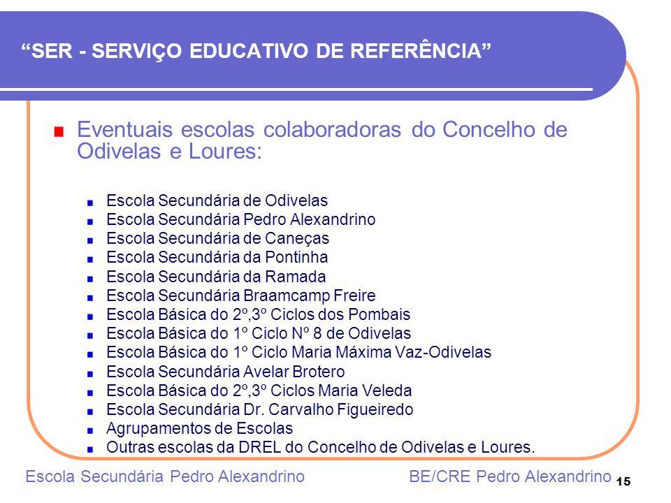 SER - SERVIÇO EDUCATIVO DE REFERÊNCIA