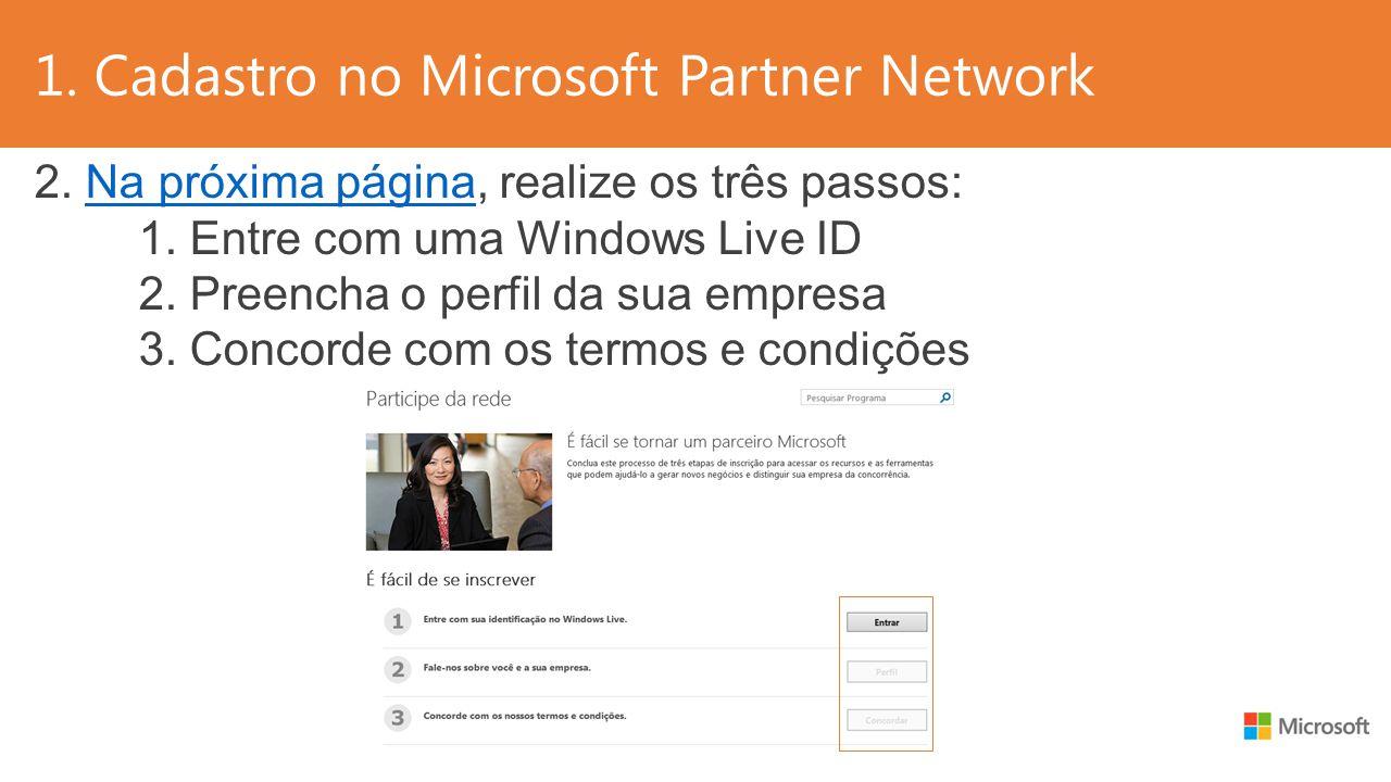 1. Cadastro no Microsoft Partner Network